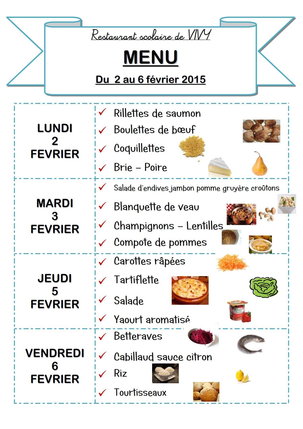 Souvent Menu de la semaine à imprimer - Bon appétit ! WN99